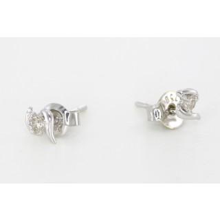 18 karaat witgouden diamanten oorbellen