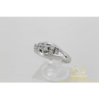 0.52 ct Diamanten Ring Witgoud 14 karaat 7 briljanten