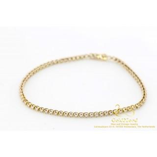 1 ct Diamond Point diamanten Tennisarmband Rosegoud 14 krt