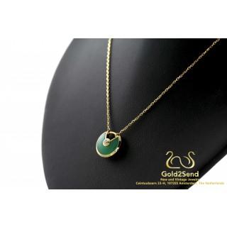 Cartier Amulette de Cartier Collier Ketting Chrysoprase Jade
