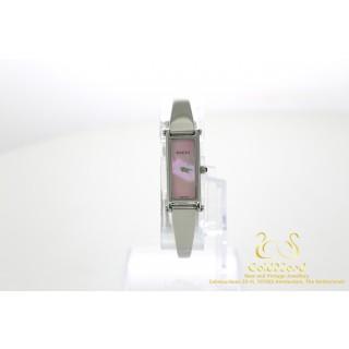 Gucci 1500L Roze Parel Wijzerplaat Staal Quartz