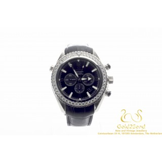 Omega Seamaster Planet Ocean Chrono Co-Axial Chronometer Diamonds 45mm