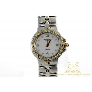 Raymond Weil Parsifal 9990 18 karaat Geelgoud Staal Diamanten 27mm