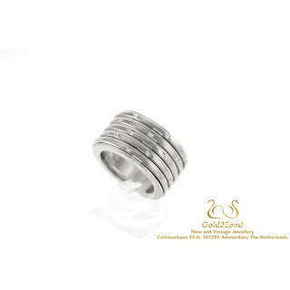Piaget Possession 5-Row Band Ring 18K White Gold