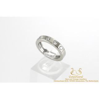 Vijf Diamanten Halve Alliance Ring 18 karaat 0.5 ct