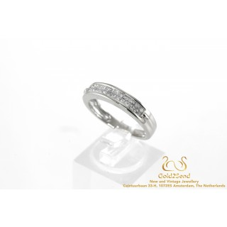 30 Princessen Diamanten Rijring 14 karaat Witgoud 0.50ct
