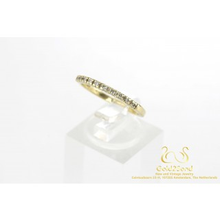 10 Diamanten Halve Alliance Ring 14 karaat