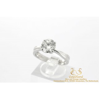 2 Carat diamanten ring witgoud 18 karaat