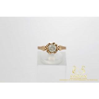 0.5 ct Solitair Diamanten Ring Rosegoud 14 karaat