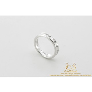 925 T & Co 1837 Tiffany & Co 925 silver ring 52