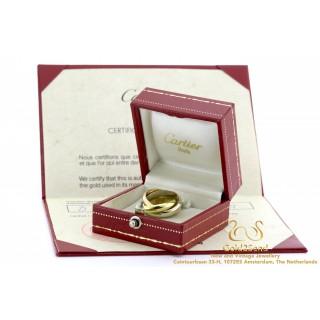 Cartier certificaat Trinity ring 18 karaat goud