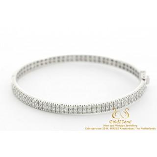 Diamanten armband 18 karaat witgoud