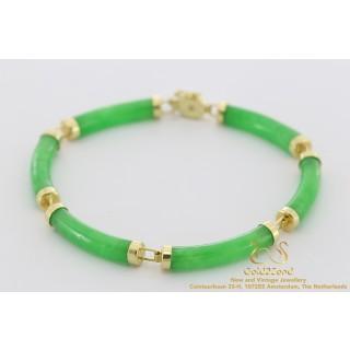 Groene jade armband
