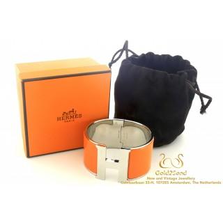 Hermès Clic Clac H bracelet Orange Steel PM H300001FP23GM