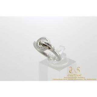 Hermes Dubbel O ring zilver Maat 56