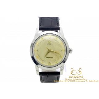 Omega Vintage Seamaster Automatic 2577-1 Staal met Leer band 34mm horloge