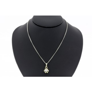 0.25 ct Solitair diamanten hanger met collier 14 karaat witgoud