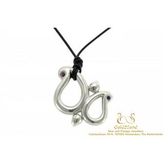 Tamara Comolli Sapphires Butterfly hanger 925 zilver