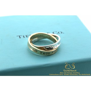 Tiffany & Co 1837 Interlocking Circles Ring Zilver en 18 karaat geelgoud 51