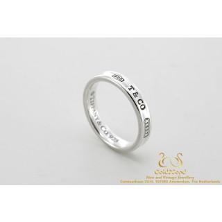 Tiffany & Co 1837 Narrow Ring Zilver 58