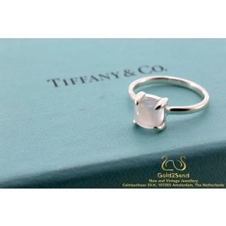 Tiffany & Co Paloma Picasso Sugar Stacks Ring Zilver Kwarts 52