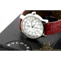 Bulgari Solotempo ST29S Steel Quartz Red Leather Strap 29mm