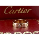 Cartier Love Ring 1 Sapphire 18K Pink Gold Size 53