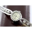Jaeger-LeCoultre Vintage 18 karaat Witgoud met Diamanten 17mm Dames horloge met Doos