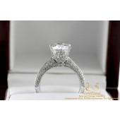 2 CT D VVS Diamond Ring 18 karat White gold