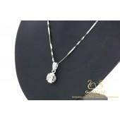 0.60 karaat Diamanten hanger met collier 18 karaat witgoud