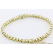 5 CT Diamond Tennis Bracelet 46 x 0.11 = 5 CT 14 karat yellow gold