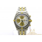 Breitling Chronomat B13050.1 Gold/Steel White Dial 40mm