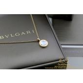 Bvlgari 18 Karaat Rosegoud Collier Hanger Onyx MOP Diamant 347761