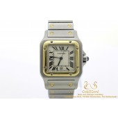 Cartier Santos Galbée Gold Steel Quartz 187901 29 mm