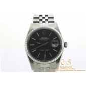 Rolex Datejust 1603 Steel Black 1975 Jubilee 35mm