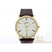 Seiko Premier vintage horloge leer