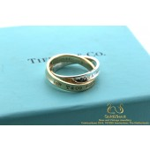 Tiffany & Co 1837 Interlocking Circles Ring Zilver en 18 karaat geelgoud 51
