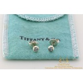 Tiffany & Co Elsa Peretti Color by the Yard Oorstekers Zilver met 0,12 CT Aquamarijn