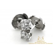Tiffany Solitaire Diamond Earrings Platinum 0,76 CT
