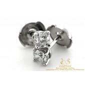 Tiffany Solitaire Diamond Earrings Platinum 0,76 CT